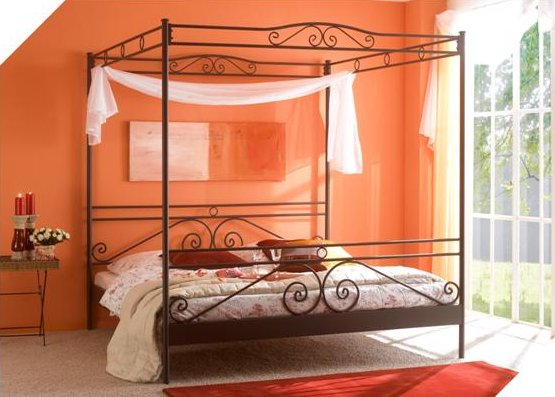 Metalen hemelbed Angelique