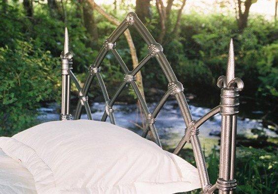 Celtique lit en fer forge lit gothic - Lit fer forge blanc 140 ...